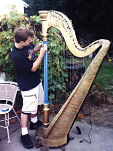 Nathan fine-tunes the Harp