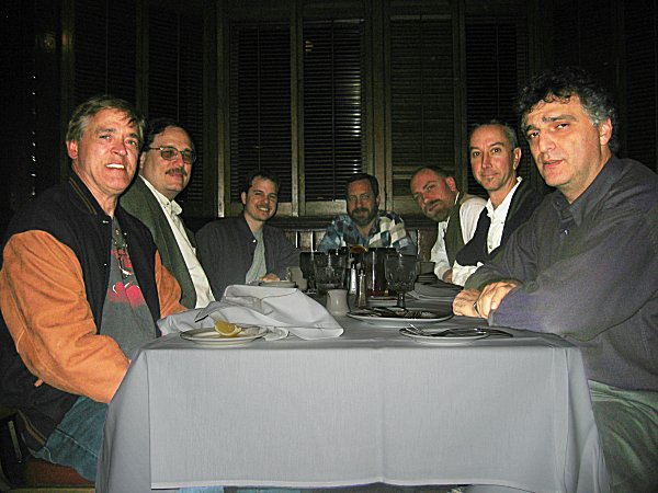 Steve, Tim, Nathan, Gary, Alex, Greg, and Mark at the post-season celebration dinner.